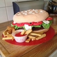 Hamburger Cake My first cake ever