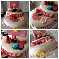 Birthday Cake For A Girl Who Loves Makeup