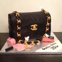 Chanel Bag Cake Jumbo Chanel bag cake and some makeup details