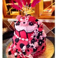 My First Attempt At Covering A Cake With Fondant And My First Tiered Cake It Could Have Gone Much Worse But It Could Have Gone Much Better... My first attempt at covering a cake with fondant and my first tiered cake. It could have gone much worse, but it could have gone much...