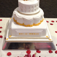 Roman Themed Wedding Cake Front   Roman themed wedding cake front