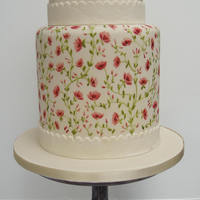 Double Height Painted Cake Double Height Painted Cake