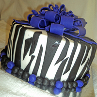 My First Zebra Cake & First Fondant Bow