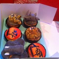 Africa Cupcakes Africa theme cupcakes for a charity event