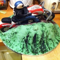 60Th Birthday Biking Cake