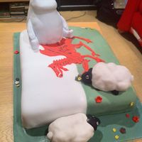 Welsh Moomin Birthday Cake Birthday cake for a Welsh Moomin fan!