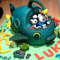 Octonauts Childrens Birthday Cake My Nephew Couldnt Wait To Get His Hands On It Chocolate Of Course Octonauts Children's birthday cake - my nephew couldn't wait to get his hands on it! Chocolate, of course.