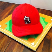 St Louis Cardinals Baseball Cap I Made This For A Bride To Give To Her Groom As A Gift For Their Wedding The Baseball Cap Is All Chocolat St. Louis Cardinals Baseball cap. I made this for a bride to give to her groom as a gift for their wedding. The baseball cap is all...