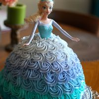 Elsa Doll Cake For A Frozen Themed Birthday Party Elsa Doll cake for a Frozen themed birthday party