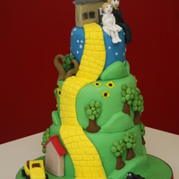 Life Story Wedding Cake The cake has all the aspects of the couples life in it, the school on top of the hill where they go regularly, their house, dog and car,...