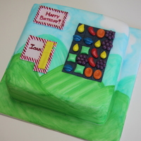 Candy Crush Cake Vanilla sponge with fondant decoration