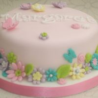 70Th Birthday Cake   inspired by a flower meadow