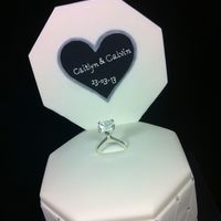 Engagement Cakes   Ring Box Cake Chocolate mud cake, dark chocolate ganache, fondant. Quilting, studded with cachous.