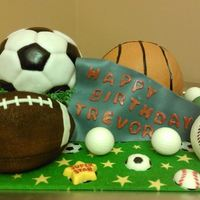 Loads Of Happy Birthday Sports Balls *