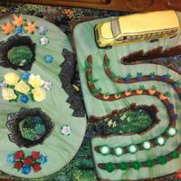 Bus Driver Retires At 85 To Garden All Chocolate Handmade Decorations!