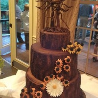 Tree Of Love Cake Wheat Free Carrot Cake All Chocolate Decorations Including Tree And Flowers Tree of Love Cake - Wheat Free Carrot Cake - All Chocolate Decorations, including tree and flowers!