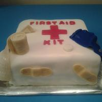 First Aid Kit Cake * A co-worker of mine was a bit of a hypochondriac, so for her going away party I made her a First Aid Kit cake! The cake was vanilla with...
