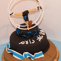 Wheel Gymnastics Fondant Themed Cake #Wheel #Gymnastics #Fondant #Themed #Cake#Fondant #Figurine#עוגת #גל&#1490...