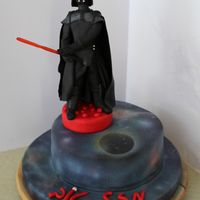 Darth Vader Cake darth vader cakeairbrushed fondant space spekled look