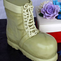 All Edible The Boot Was Chocolate Cake With Chocolate Ganache The Sole Of The Shoe Was Rkt Covered In Fondant The Shoe Box Was Vanilla All edible - the boot was chocolate cake with chocolate ganache (the sole of the shoe was RKT covered in fondant), the shoe box was vanilla...