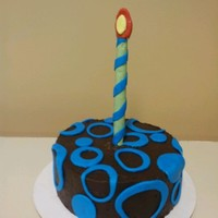 Jimmy Discovered He Was 1 Year Younger Than He Thought; Time To Celebrate!   chocolate ganache with fondant accents