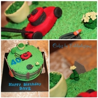 Lawn Mower Cake 40th birthday cake Was told simply have a mower on it