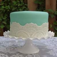 "This Was My Test Cake To Make Sure The Lace Was The Look The Bride Wanted For Her Shower Cake Four Layer Lemon Cake Fondant Tinted To This was my ""test"" cake to make sure the lace was the look the bride wanted for her shower cake. Four layer lemon cake, fondant..."
