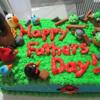 Angry Birds Themed Fathers Day Cake I Made For My Dad Chocolate Cake With Chocolate Buttercream Filling Vanilla Buttercream And Fondant Angry Birds themed Father's Day cake I made for my dad. Chocolate cake with chocolate buttercream filling, vanilla buttercream, and...