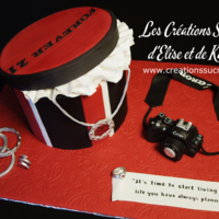 Gift Box With Jewels And Camera