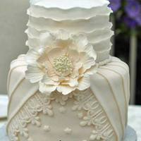 Pleated, Ruffled Couture Wedding Cake Pleated, Ruffled Couture wedding cake