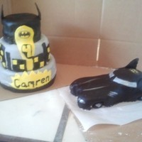 Batman Cake And Batmobile Batman Cake and Batmobile