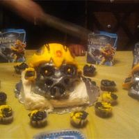 Transformers Bumblebee Head Cake Transformers - Bumblebee head cake