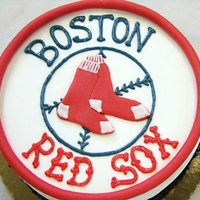 Red Sox Theme Cake I love this cake!