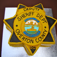 This Grooms Cake Is Two Layer Double Chocolate Cake With Chocolate Filling With Buttercream Icing I Had A Picture Of The Badge Blown Up To... This grooms cake is two layer double chocolate cake with chocolate filling with buttercream icing. I had a picture of the badge blown up to...