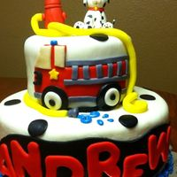 Fire Truck Cake For 3Rd Birthday *