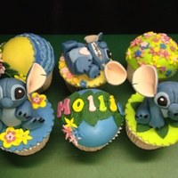 Stitch Themed Cupcakes