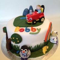 Baby Jake Themed 1St Birthday Cake Baby Jake themed cake for a 1st birthday.
