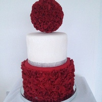 Ultimate Red Velvet Cake With Individually Hand Made Petals