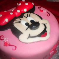 Minnie Mouse Cake All Handcrafted and edible