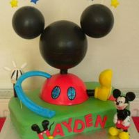 Mickey Mouse Club House Birthday Cake All Handcrafted and edible even Mickey!!!