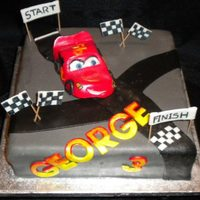 Cars Mcqueen Cake All Handcrafted and edible