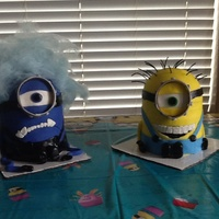 Good And Evil Minion Cakes Good and Evil Minion cakes