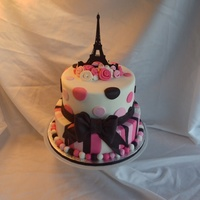 Bridal Shower Cake Made At The Request Of The Brides Mother Who Saw A Cake Like This On A Wedding Website Wish I Could Give The Original D... Bridal shower cake made at the request of the bride's mother who saw a cake like this on a wedding website. Wish I could give the...