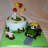 Farm Themed Birthday Cake Used John Deere Tractor Image From Doodle Cakes To Model The Tractor Using Rkt Farm themed birthday cake. Used John Deere tractor image from Doodle Cakes to model the tractor using RKT.