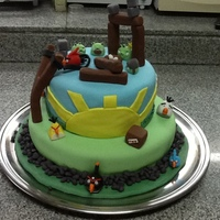 Made This For My Sons 5Th Bday Party! Got Most Of My Ideas Here On Cake Cenral, Top Layer Was Choclate, Bottom Was Vanilla , Both Had...