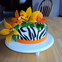 Zebra And Lily Birthday My 15th birthday cake from 2 months ago, also share it with my little sister whose birthday is a week after mine:) This is the first time I...