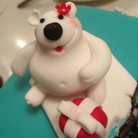 My First Ever Sugarpaste Bear My first ever sugarpaste bear! :)