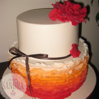 Ruffle A ruffle cake I've done a beautiful woman