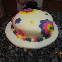 Class Cakes My first fondant cake