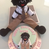 Mums Birthday Cake Benson the golliwog!